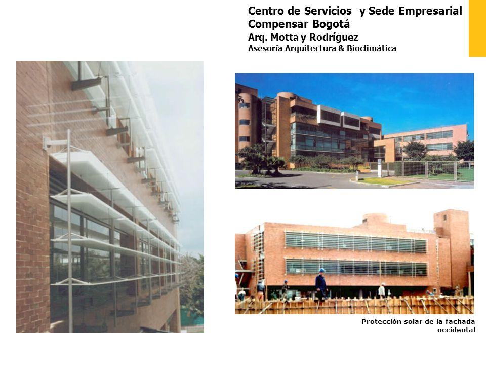 Centro de Servicios y Sede Empresarial Compensar Bogotá Arq. Motta y Rodríguez Asesoría Arquitectura & Bioclimática Protección solar de la fachada occ