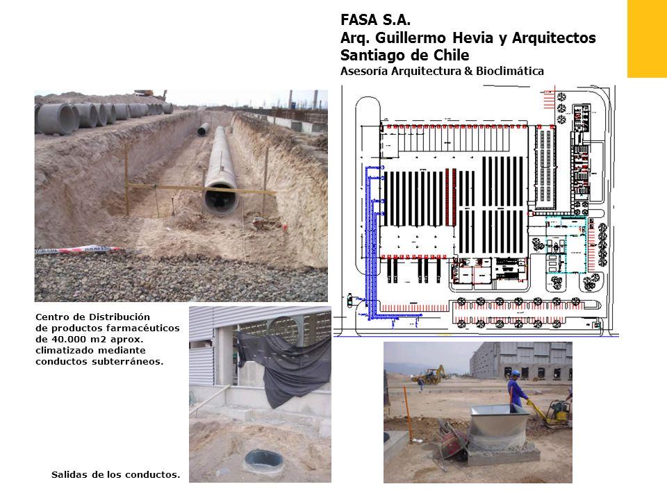 FASA S.A. Arq. Guillermo Hevia y Arquitectos Santiago de Chile Asesoría Arquitectura & Bioclimática Centro de Distribución de productos farmacéuticos