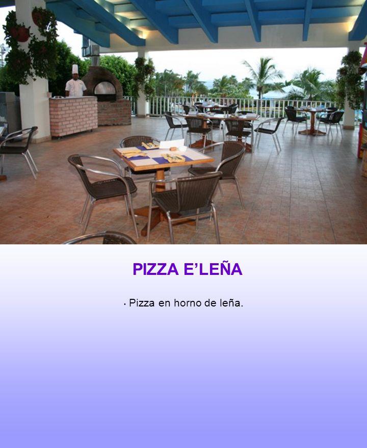 PIZZA ELEÑA Pizza en horno de leña.