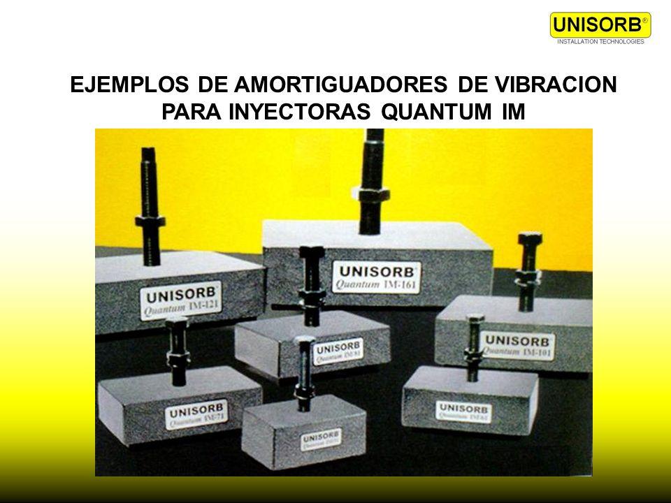 EJEMPLOS DE AMORTIGUADORES DE VIBRACION PARA INYECTORAS QUANTUM IM