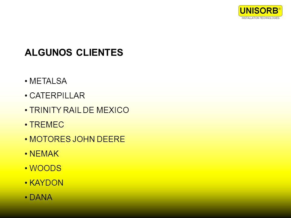 ALGUNOS CLIENTES METALSA CATERPILLAR TRINITY RAIL DE MEXICO TREMEC MOTORES JOHN DEERE NEMAK WOODS KAYDON DANA