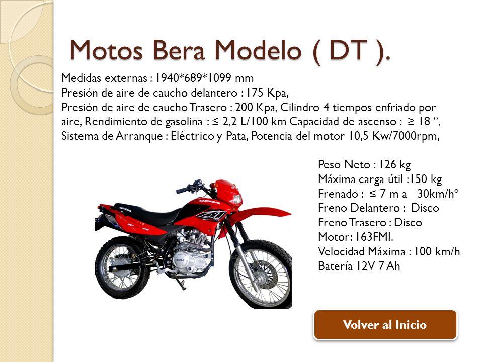 Peso Neto : 126 kg Máxima carga útil :150 kg Frenado : 7 m a 30km/hº Freno Delantero : Disco Freno Trasero : Disco Motor: 163FMI. Velocidad Máxima : 1