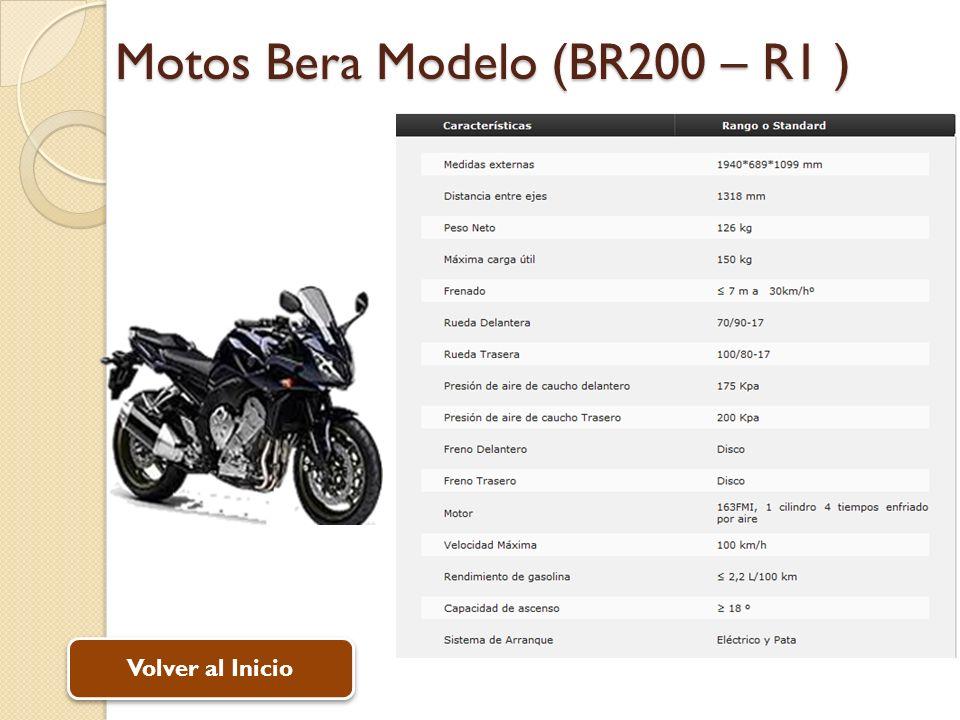 Motos Bera Modelo (BR200 – R1 ) Volver al Inicio