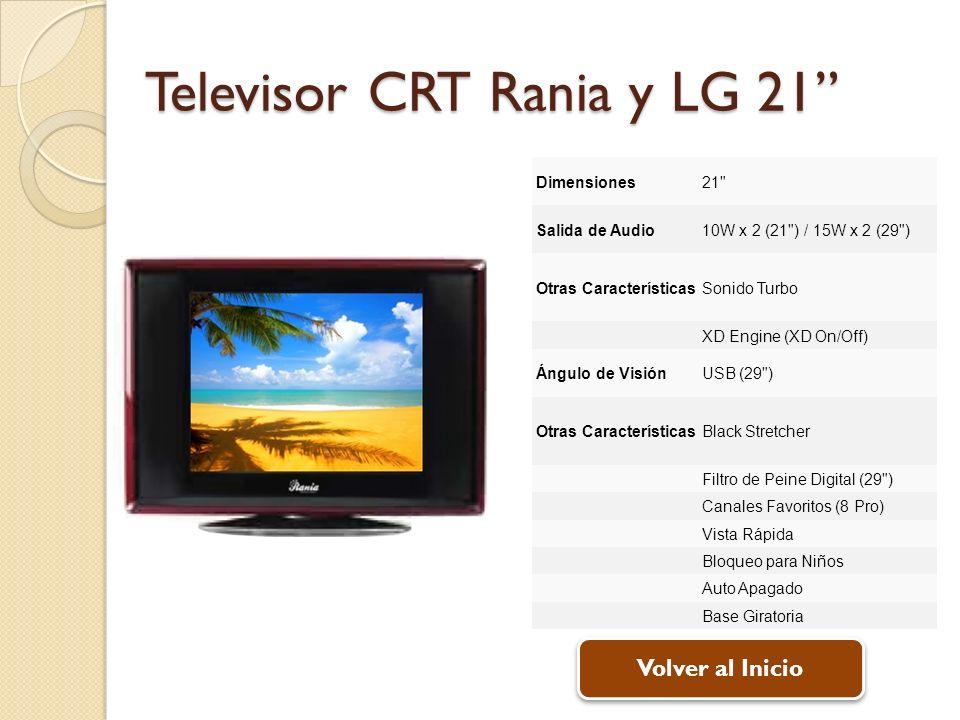 Televisor CRT Rania y LG 21 Dimensiones21
