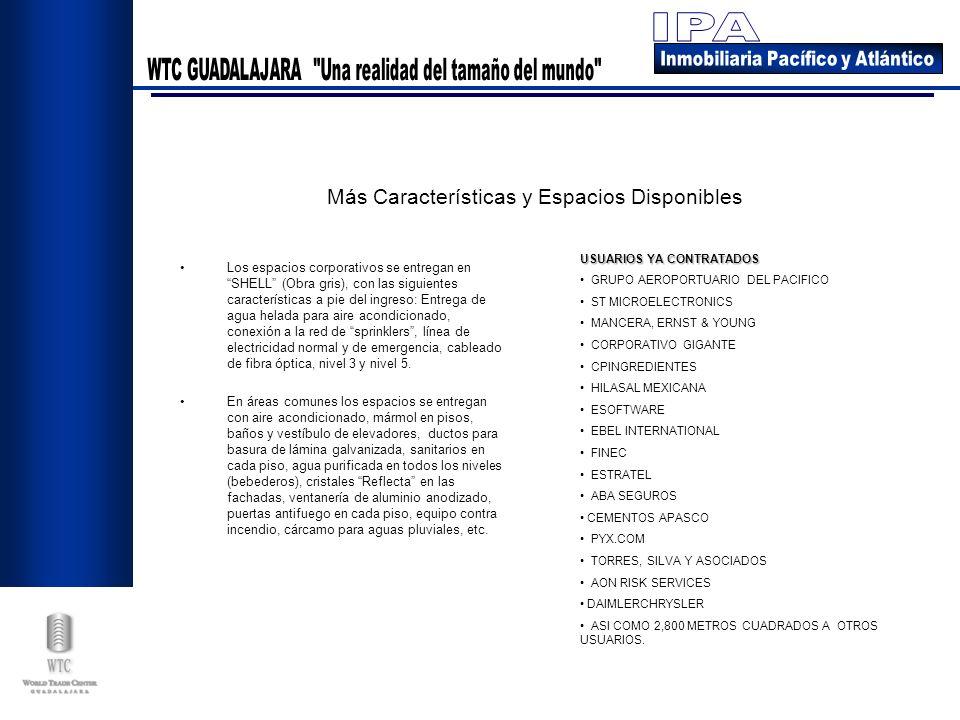Los espacios corporativos se entregan en SHELL (Obra gris), con las siguientes características a pie del ingreso: Entrega de agua helada para aire aco
