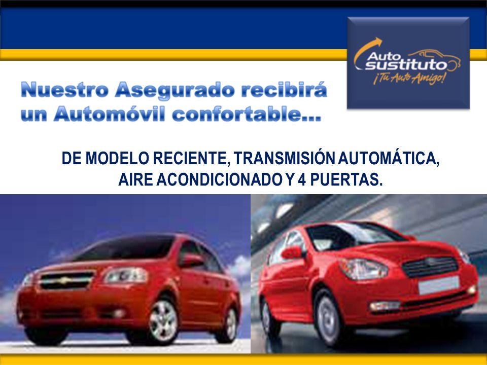 DE MODELO RECIENTE, TRANSMISIÓN AUTOMÁTICA, AIRE ACONDICIONADO Y 4 PUERTAS.