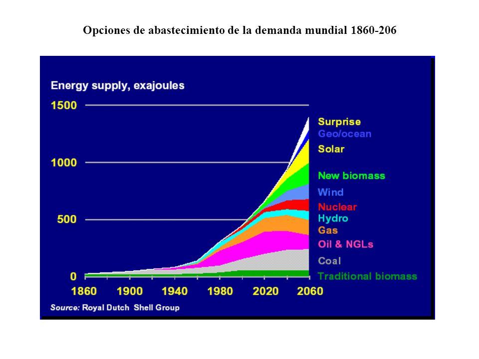 Opciones de abastecimiento de la demanda mundial 1860-206