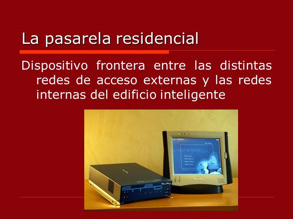 La pasarela residencial Dispositivo frontera entre las distintas redes de acceso externas y las redes internas del edificio inteligente