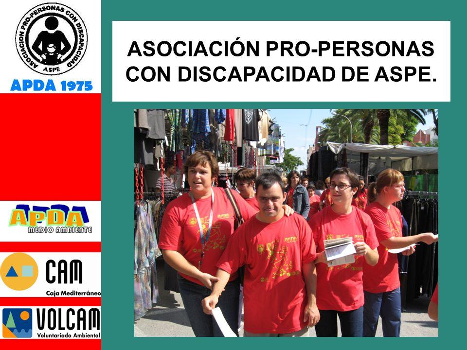 ASOCIACION FUNDADA EN 1975 POR FAMILIARES AFECTADOS EN LA POBLACIÓN DE ASPE.