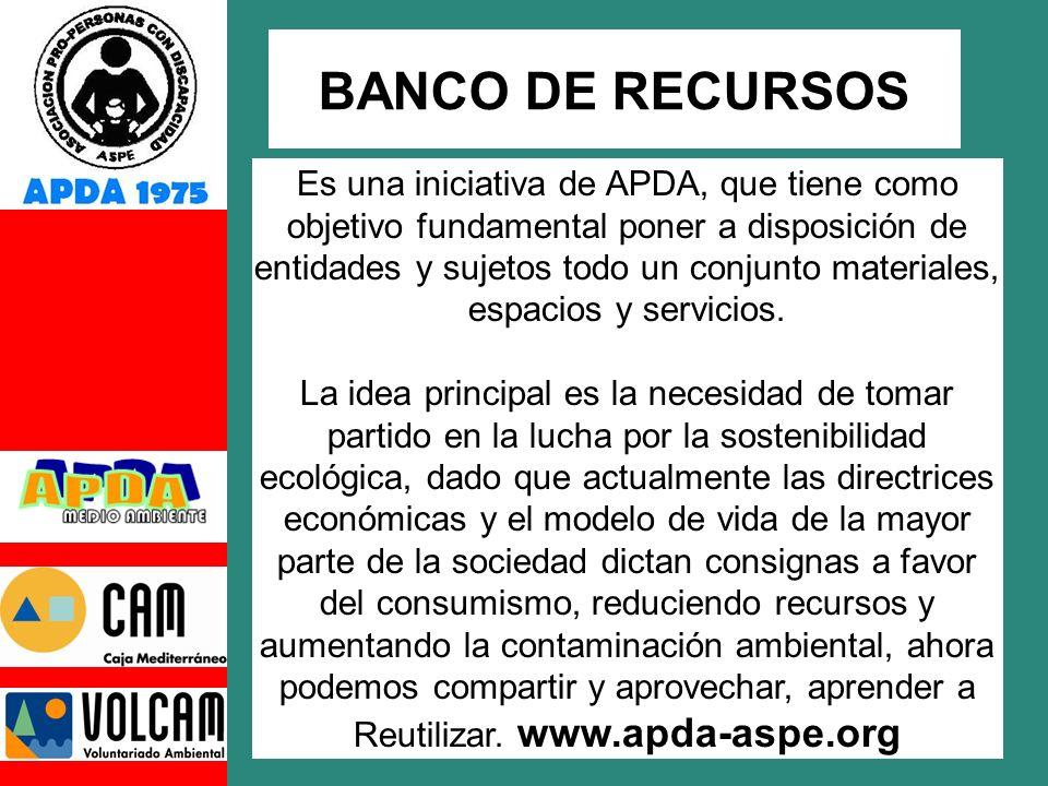 Es una iniciativa de APDA, que tiene como objetivo fundamental poner a disposición de entidades y sujetos todo un conjunto materiales, espacios y servicios.