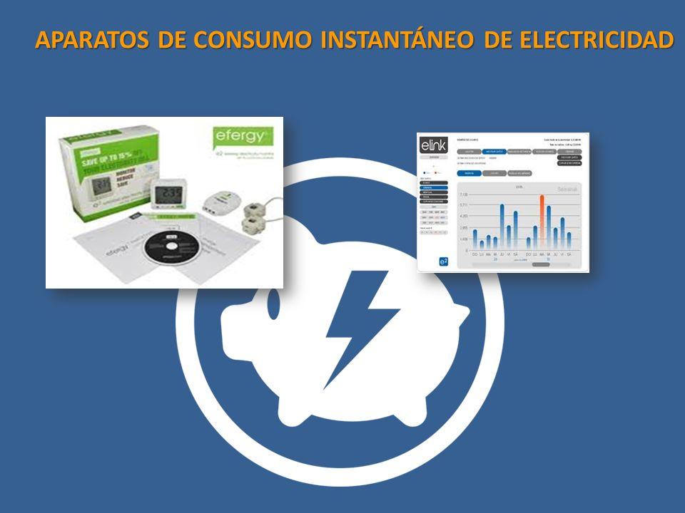 APARATOS DE CONSUMO INSTANTÁNEO DE ELECTRICIDAD