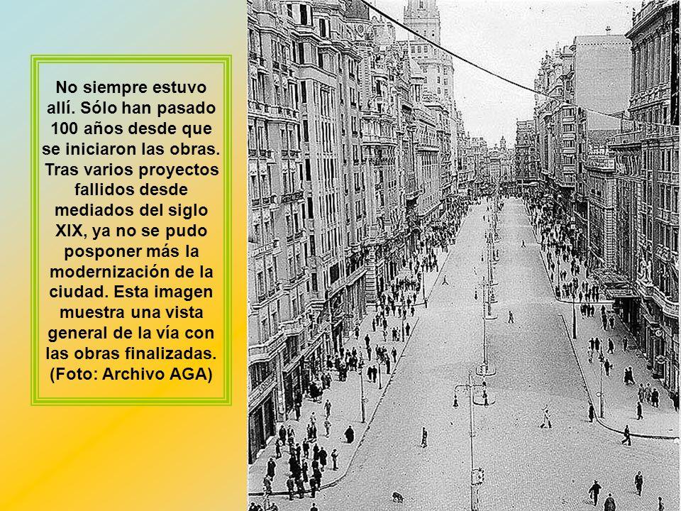 La actual Gran Vía no se concibió como una única avenida, sino tres. Eduardo Dato, en honor al antiguo alcalde de Madrid y entonces presidente del Gob
