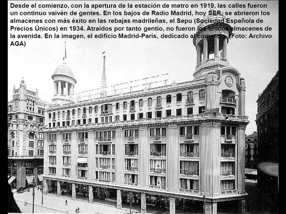 Estación metro Gran Vía. Inaugurada en 1919