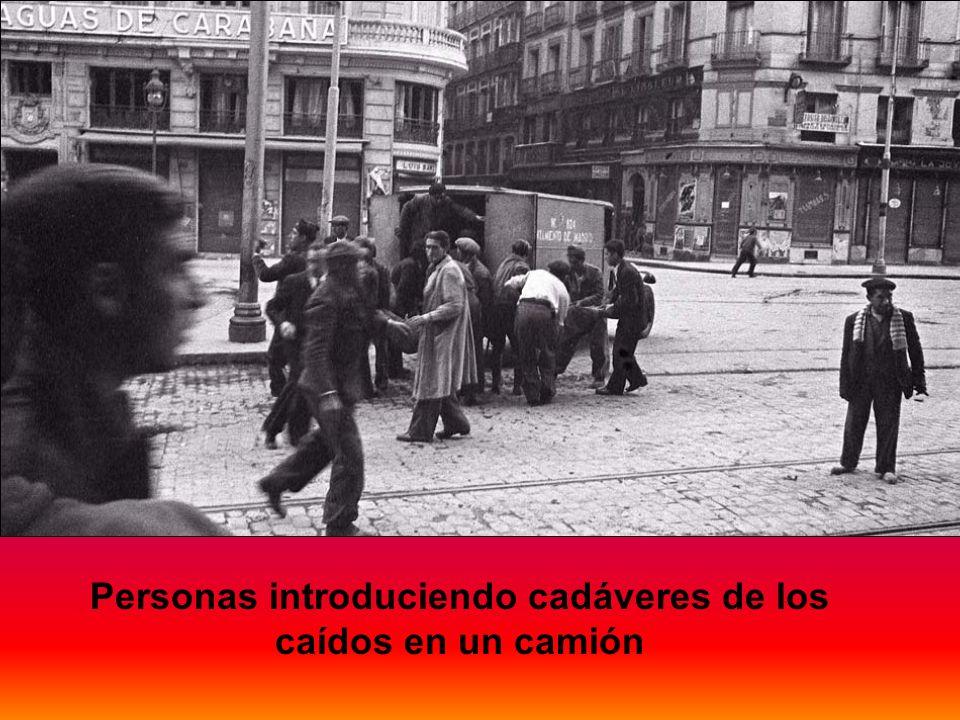 El tramo cercano a la Plaza de España fue el que más sufrió por su proximidad a la Ciudad Universitaria y a la Casa de Campo, entonces campo de combat