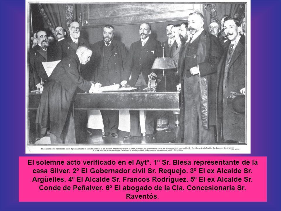 El solemne acto verificado en el Aytº.1º Sr. Blesa representante de la casa Silver.