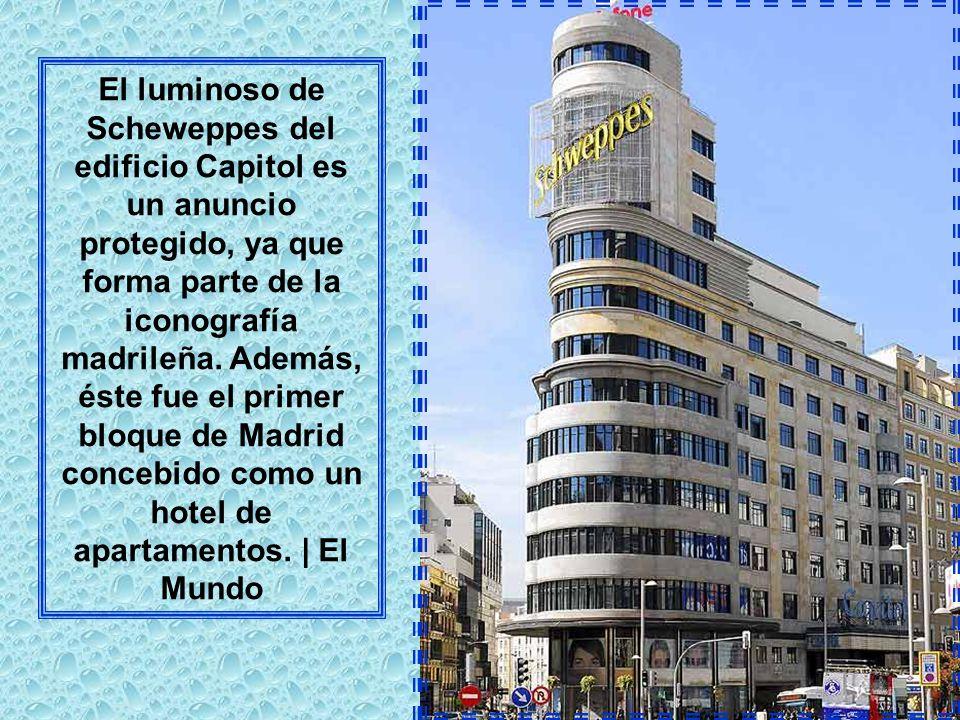 El edificio Telefónica, de casi 90 metros, es el más alto de la Gran Vía. Terminó de construirse en 1929 y fue el tercer rascacielos de Madrid. Hoy oc