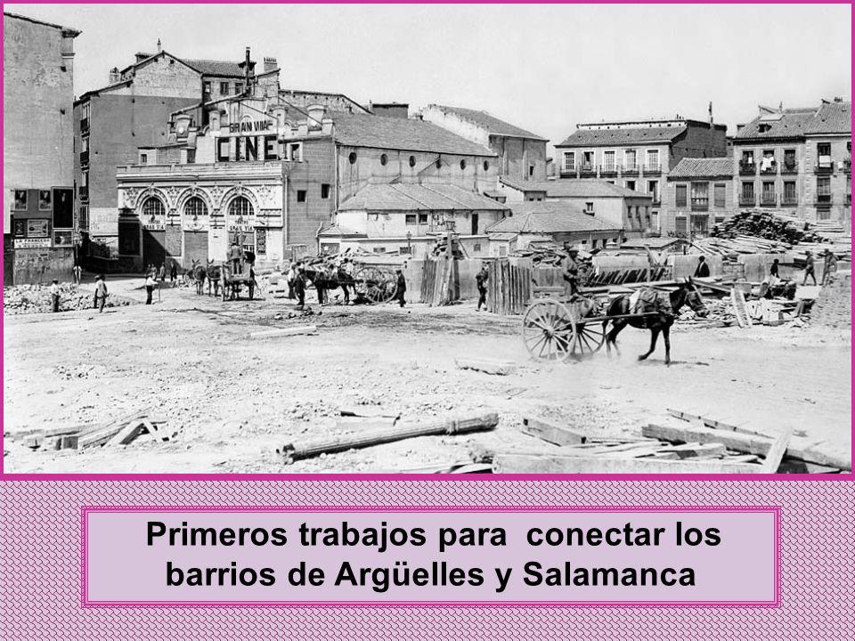 Primeros trabajos para conectar los barrios de Argüelles y Salamanca