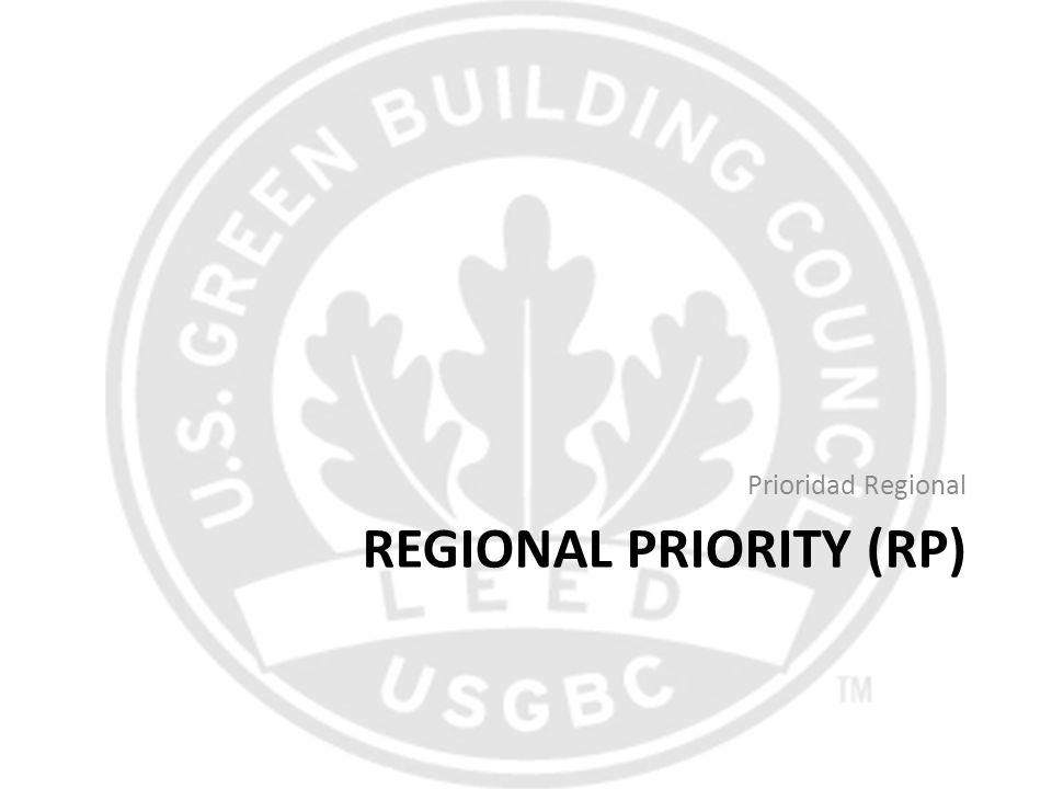 REGIONAL PRIORITY (RP) Prioridad Regional