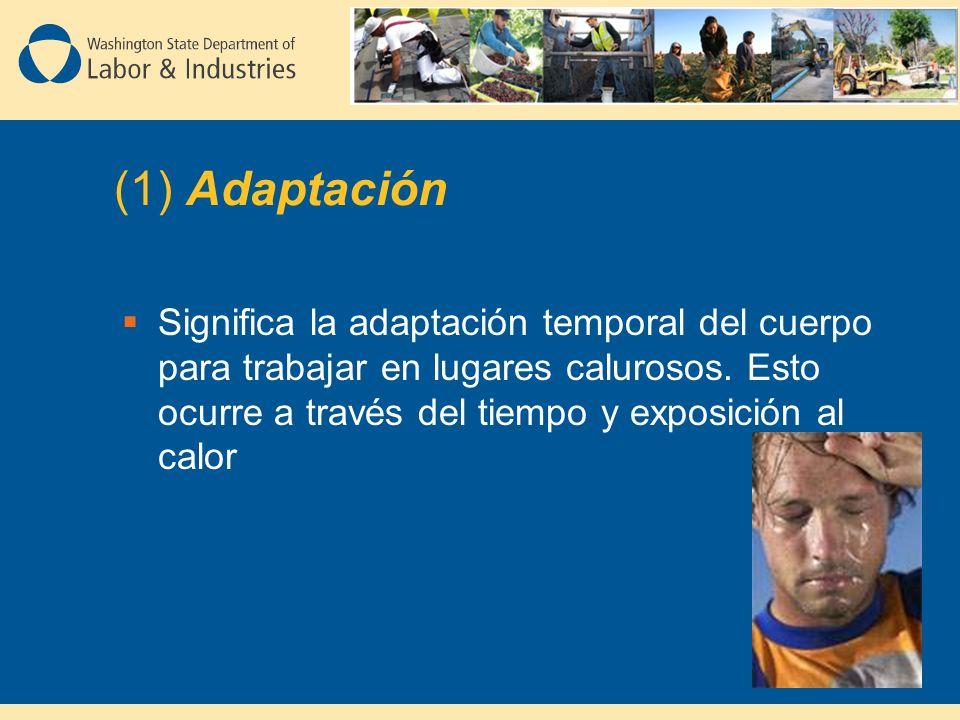 Significa la adaptación temporal del cuerpo para trabajar en lugares calurosos.