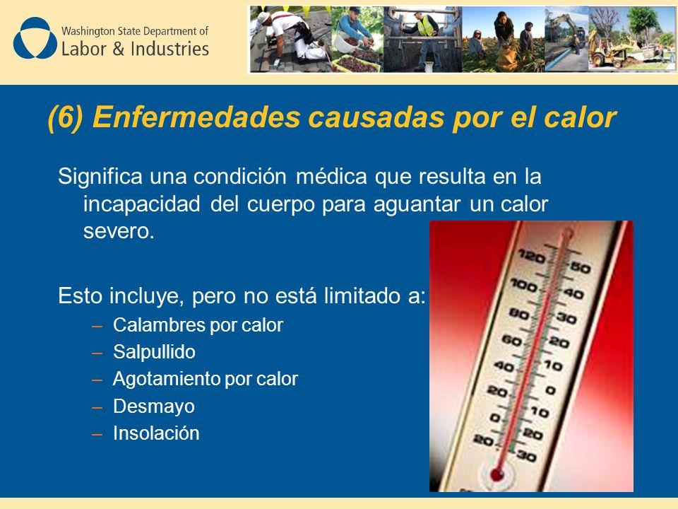 Significa una condición médica que resulta en la incapacidad del cuerpo para aguantar un calor severo.