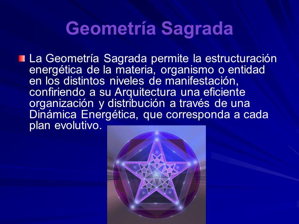 Geometría Sagrada La Geometría Sagrada es el lenguaje o sello de la creación divina. Como uno de los vértices de la triada creadora, junto con la Luz