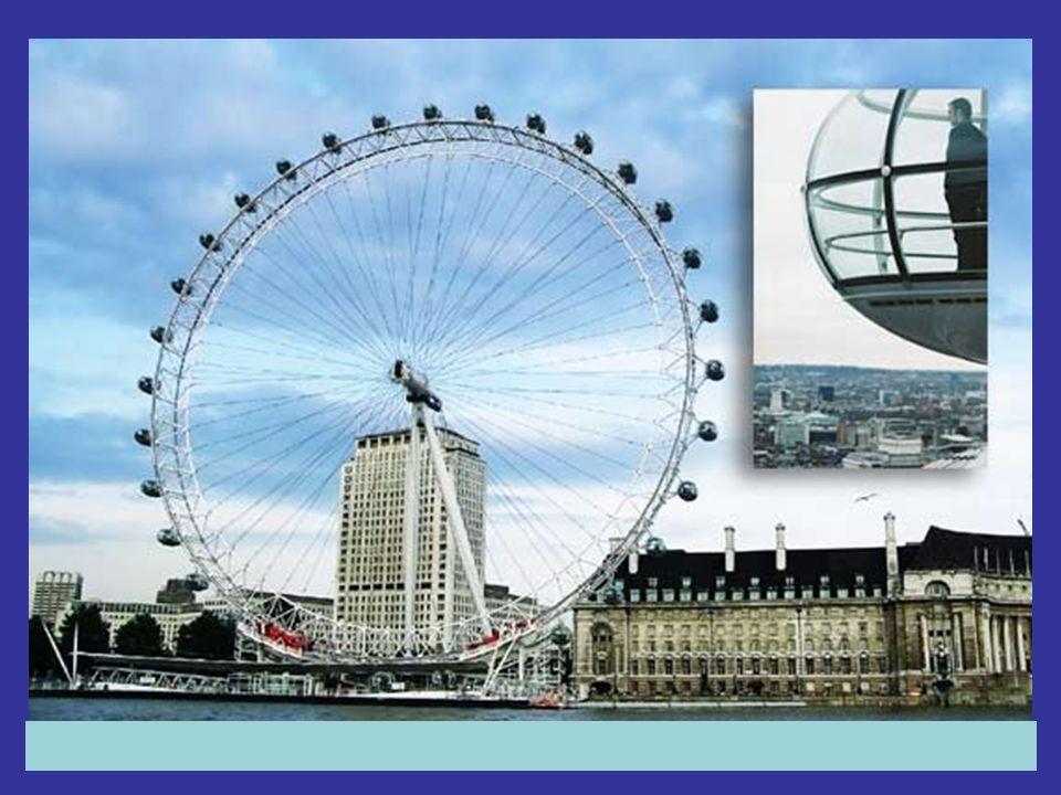 El Ojo de Londres es una noria construida en el año 2000 por la compañía British Airways, para celebrar el milenio.