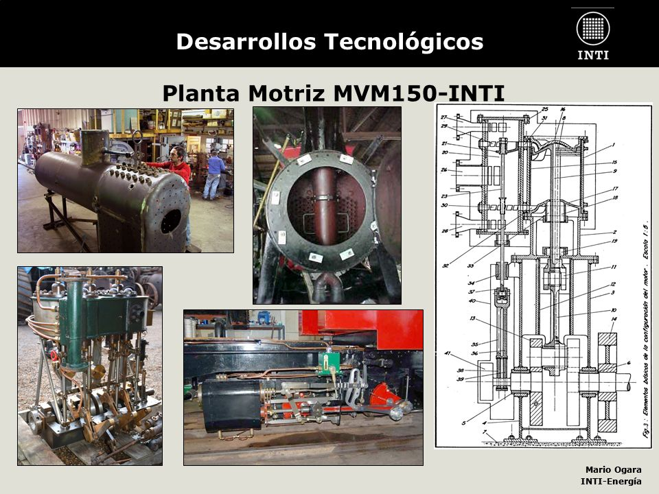 Mario Ogara INTI-Energía Mario Ogara INTI-Energía Desarrollos Tecnológicos Planta Motriz MVM150-INTI