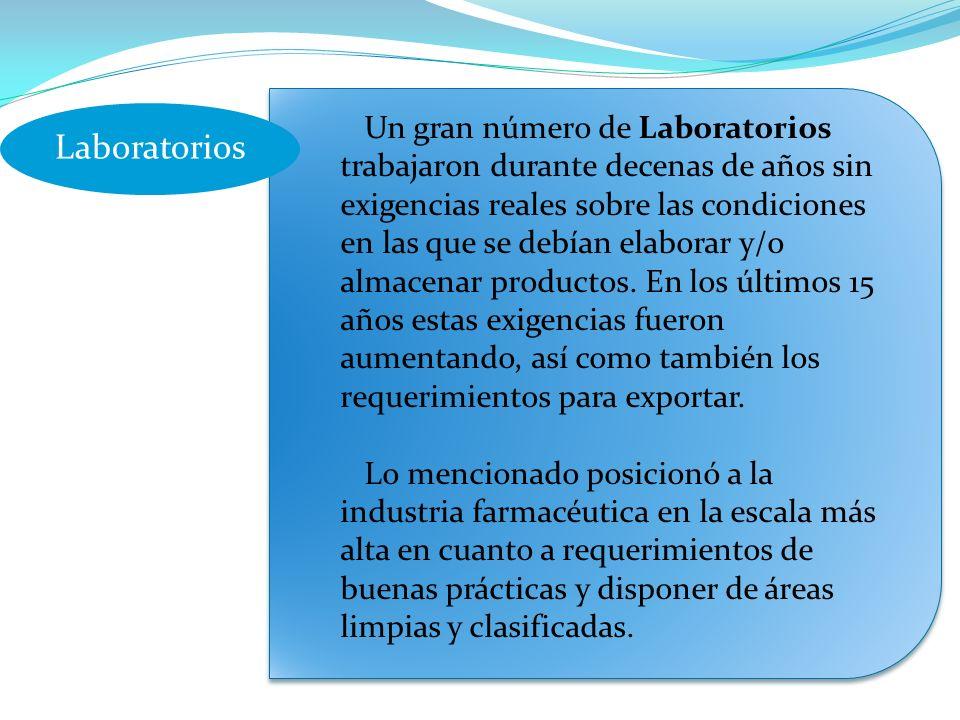 Un gran número de Laboratorios trabajaron durante decenas de años sin exigencias reales sobre las condiciones en las que se debían elaborar y/o almacenar productos.