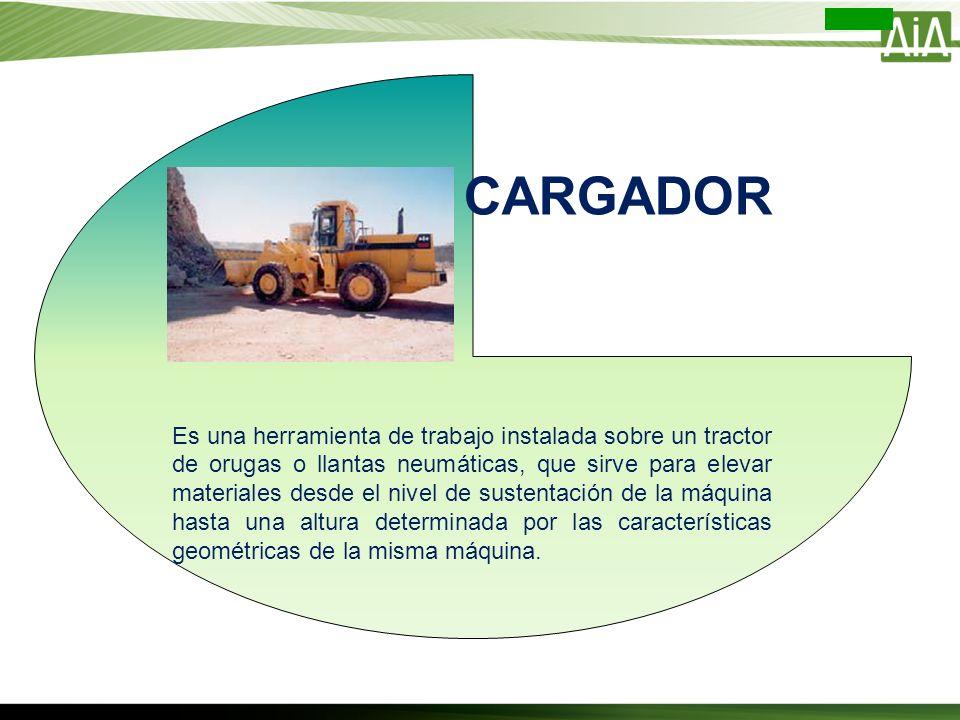 Es una herramienta de trabajo instalada sobre un tractor de orugas o llantas neumáticas, que sirve para elevar materiales desde el nivel de sustentaci