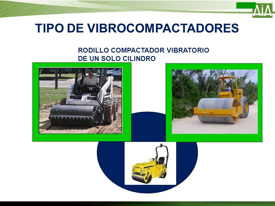 TIPO DE VIBROCOMPACTADORES RODILLO COMPACTADOR VIBRATORIO DE UN SOLO CILINDRO