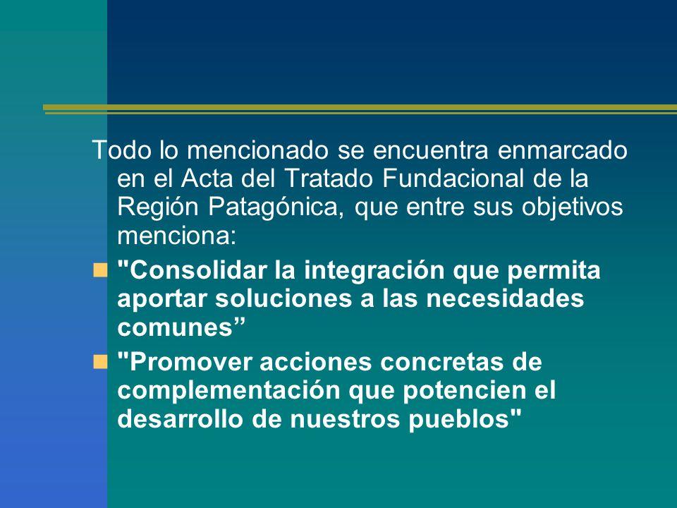 y donde los gobernadores acuerdan: ARTICULO 4°-Reconocer al Parlamento Patagónico como expresión de la voluntad integradora regional de los poderes legislativos de las Provincias Integrantes de este tratado.