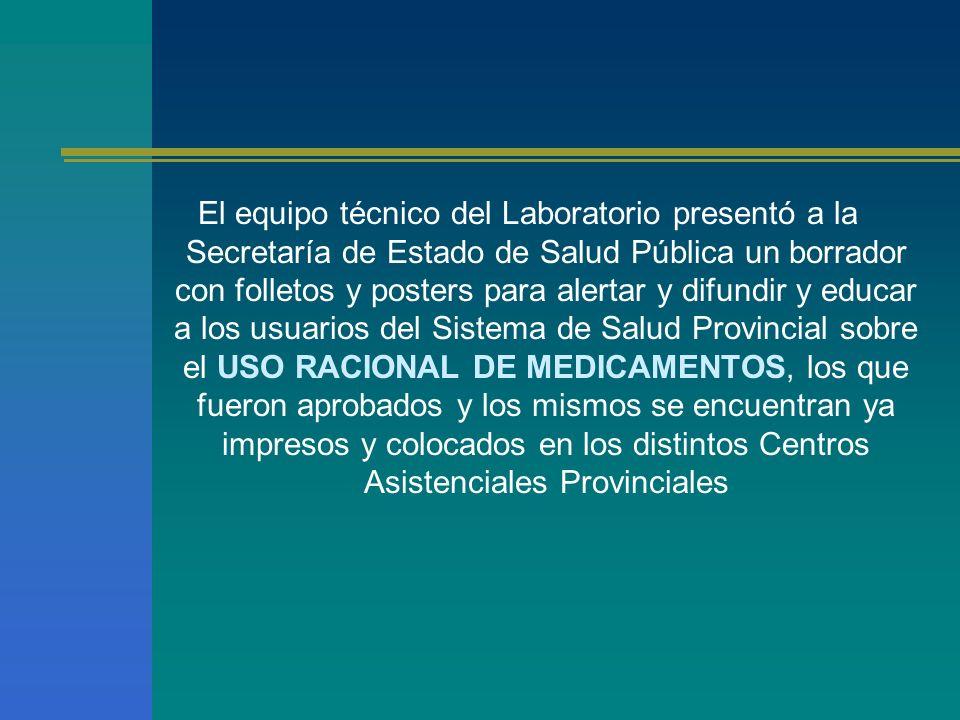 El equipo técnico del Laboratorio presentó a la Secretaría de Estado de Salud Pública un borrador con folletos y posters para alertar y difundir y edu