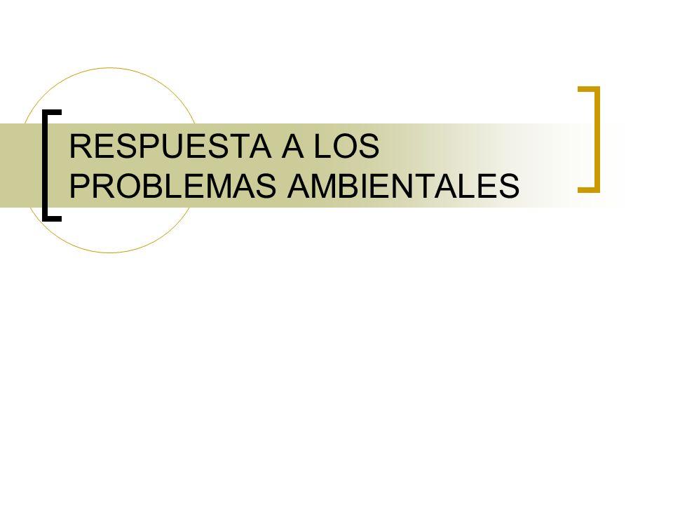 RESPUESTA A LOS PROBLEMAS AMBIENTALES