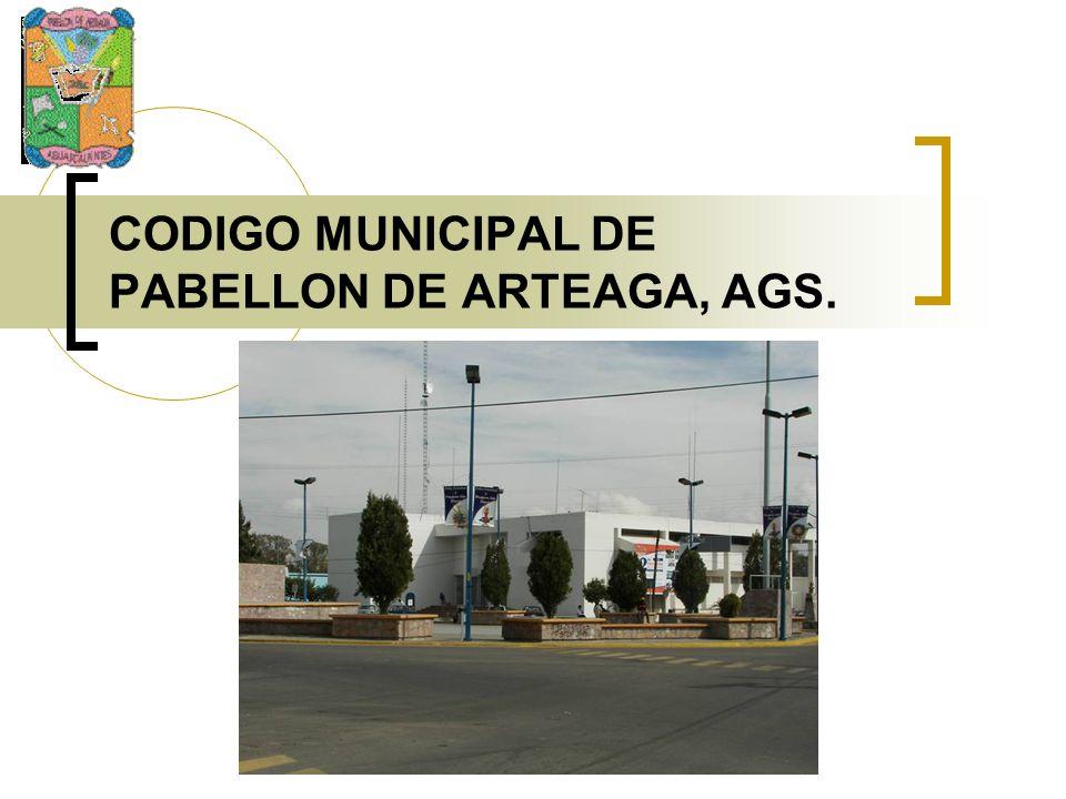 CODIGO MUNICIPAL DE PABELLON DE ARTEAGA, AGS.