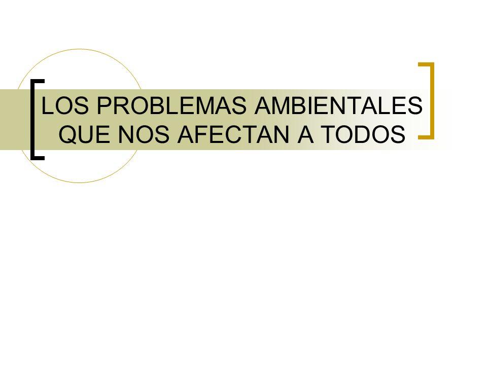 LOS PROBLEMAS AMBIENTALES QUE NOS AFECTAN A TODOS