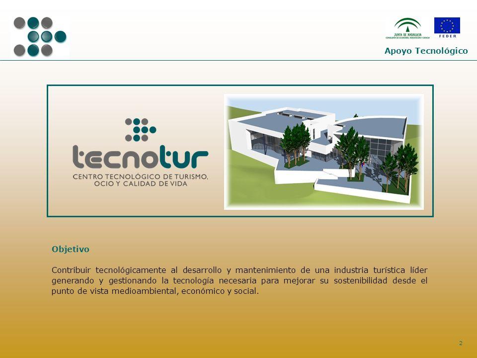 2 Objetivo Contribuir tecnológicamente al desarrollo y mantenimiento de una industria turística líder generando y gestionando la tecnología necesaria