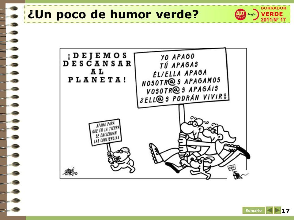17 ¿Un poco de humor verde? Sumario BORRADOR VERDE