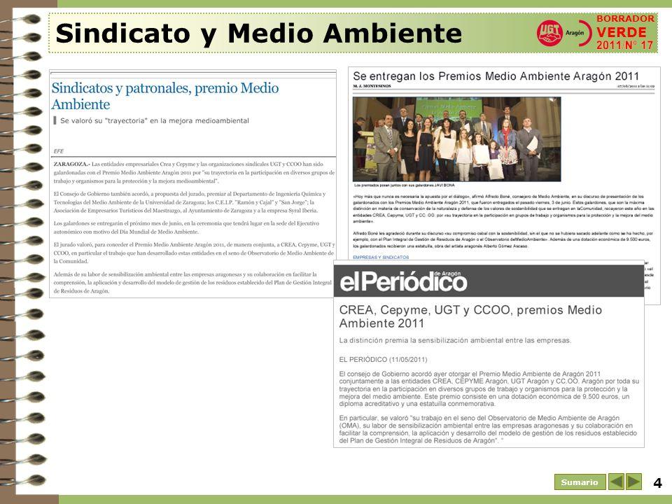 5 Sumario Sindicato y Medio Ambiente.