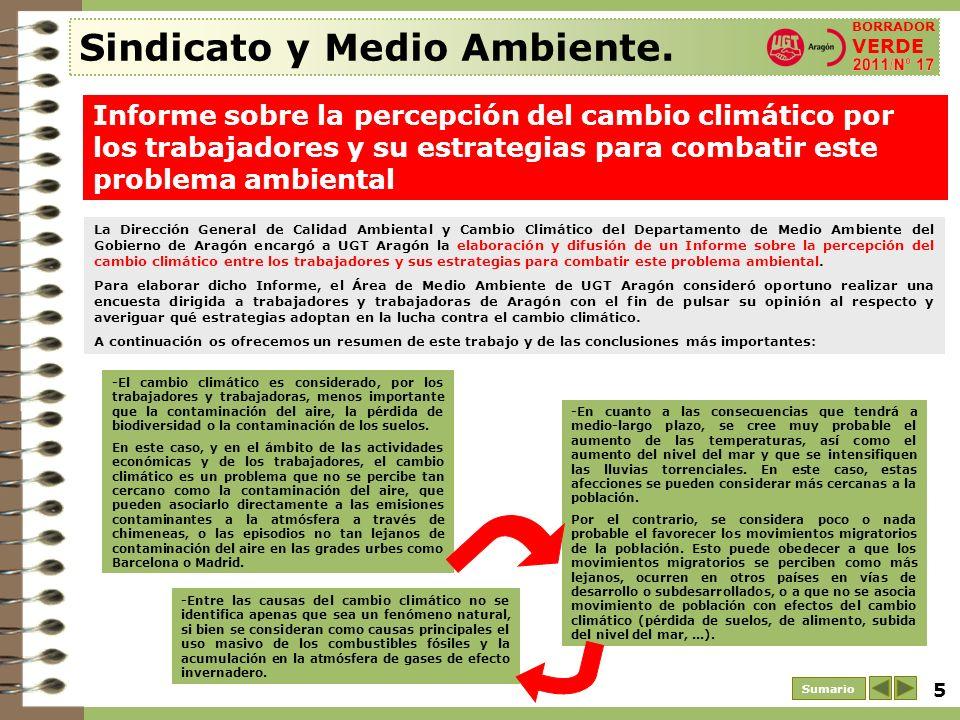 6 Sumario Sindicato y Medio Ambiente.