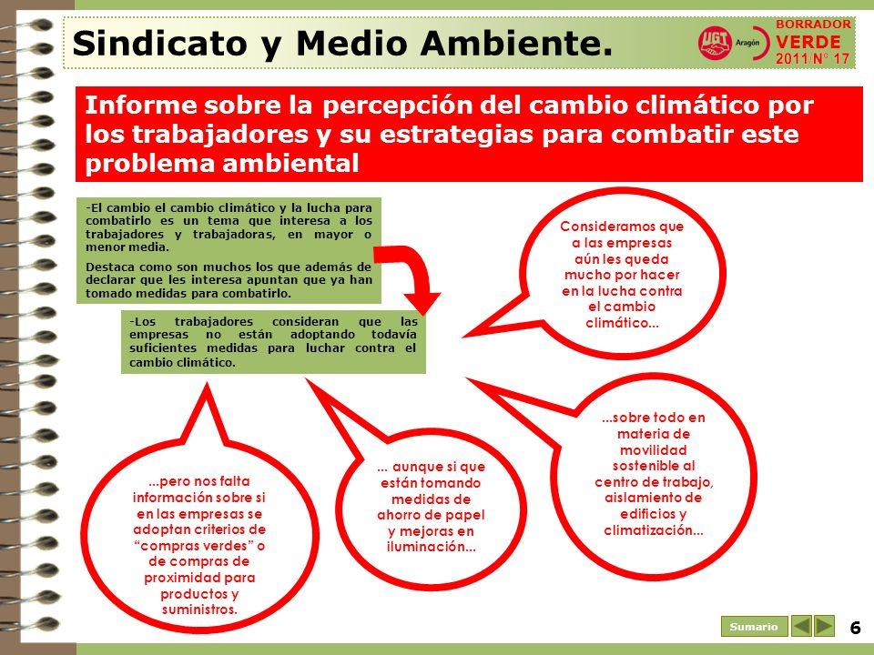 7 Sumario Sindicato y Medio Ambiente.