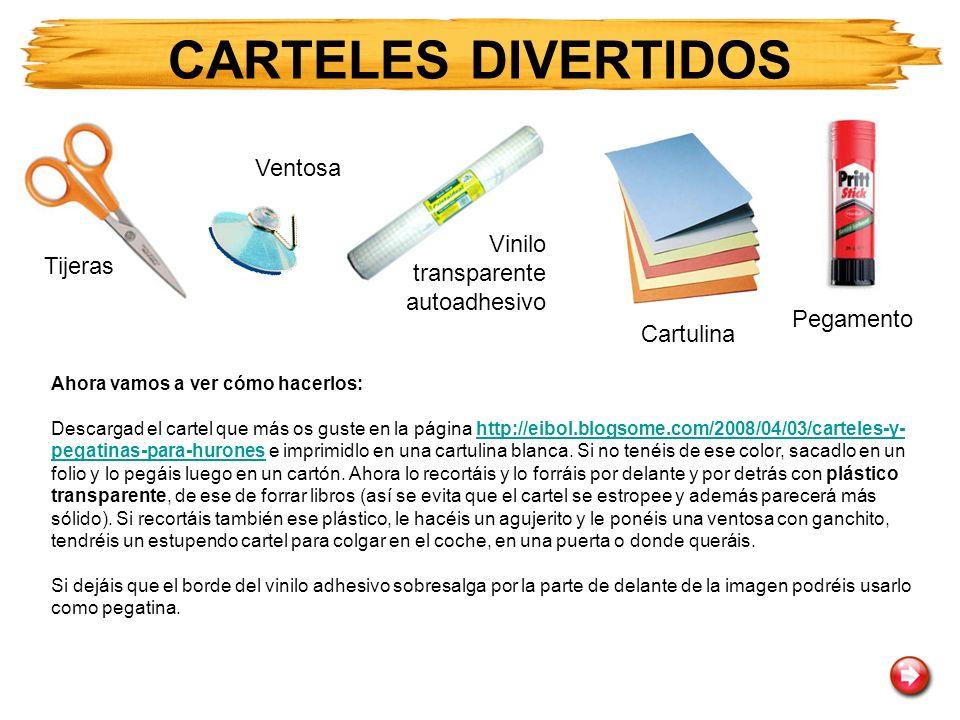 Ahora vamos a ver cómo hacerlos: Descargad el cartel que más os guste en la página http://eibol.blogsome.com/2008/04/03/carteles-y- pegatinas-para-hur