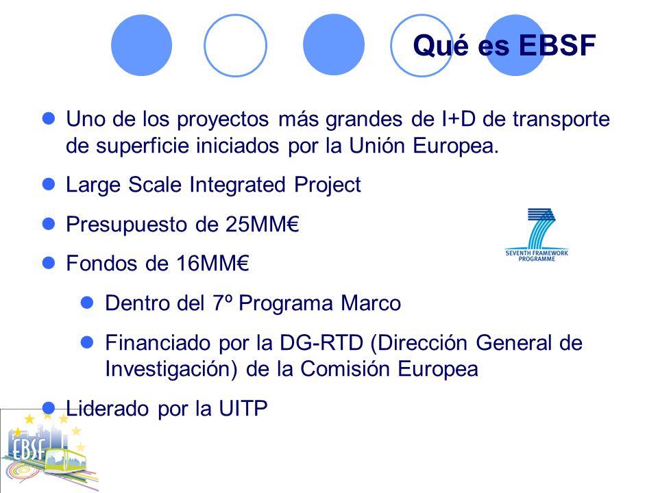 Uno de los proyectos más grandes de I+D de transporte de superficie iniciados por la Unión Europea. Large Scale Integrated Project Presupuesto de 25MM