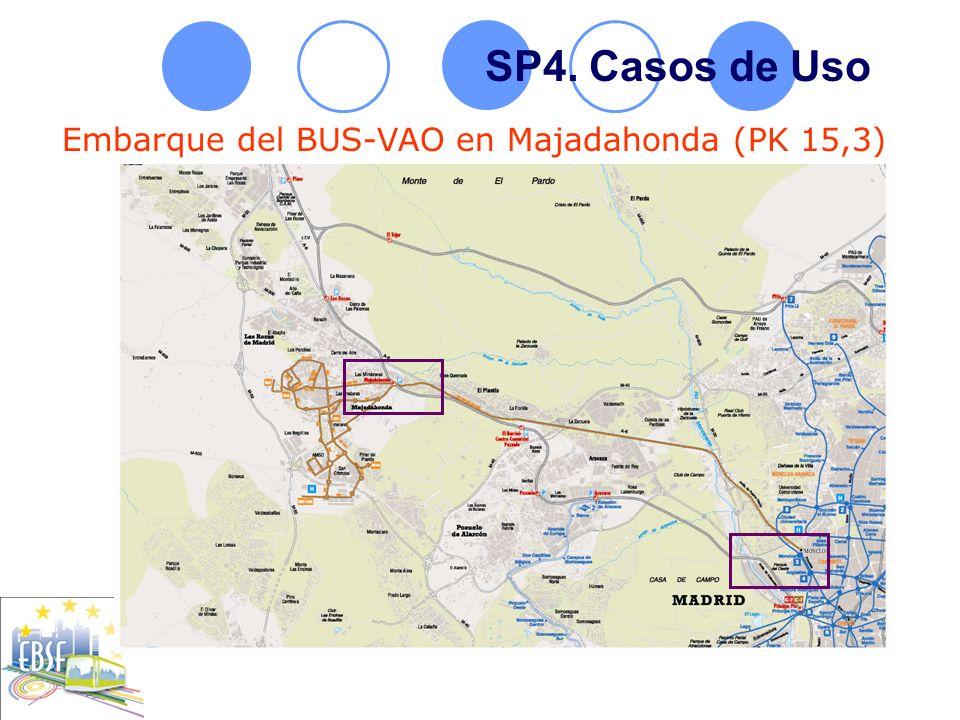 SP4. Casos de Uso Embarque del BUS-VAO en Majadahonda (PK 15,3)