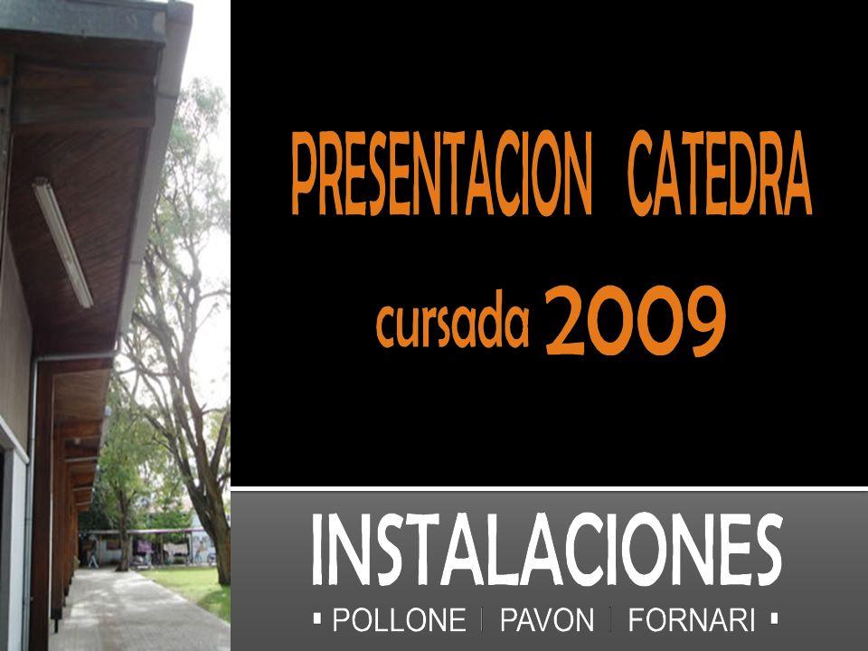 Profesores Titulares Arq. Aldo PolloneArq. Cristina PavónArq. Aníbal Fornari Profesor Adjunto
