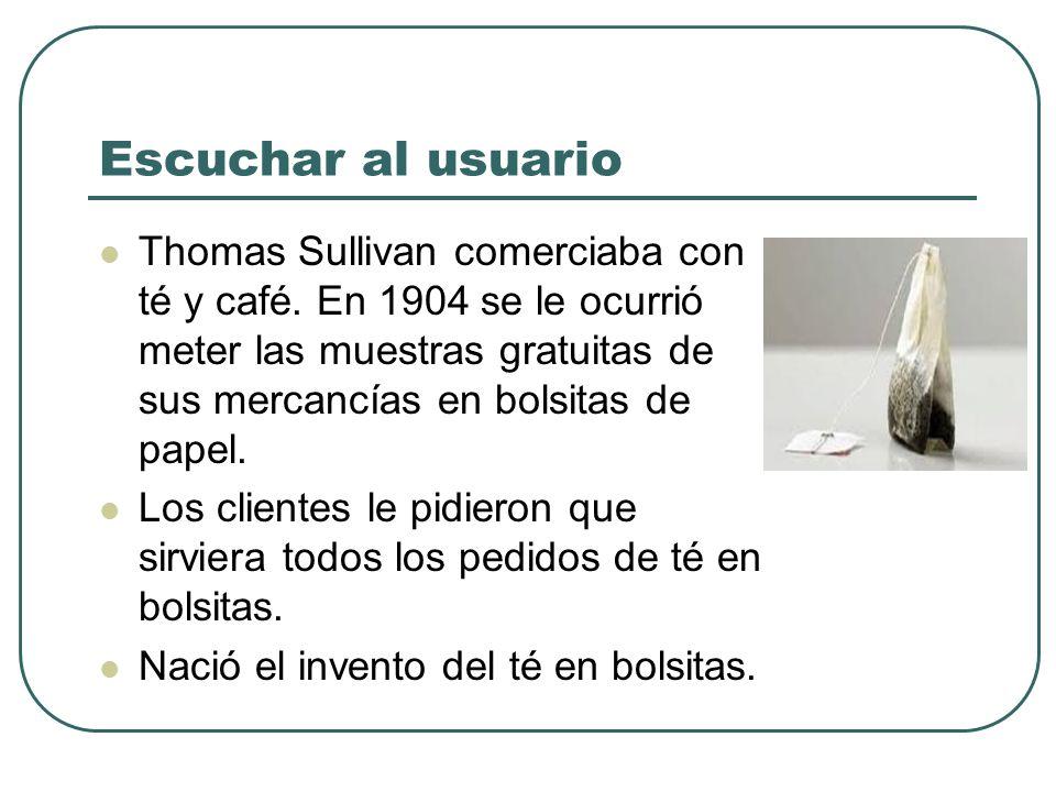 Escuchar al usuario Thomas Sullivan comerciaba con té y café. En 1904 se le ocurrió meter las muestras gratuitas de sus mercancías en bolsitas de pape
