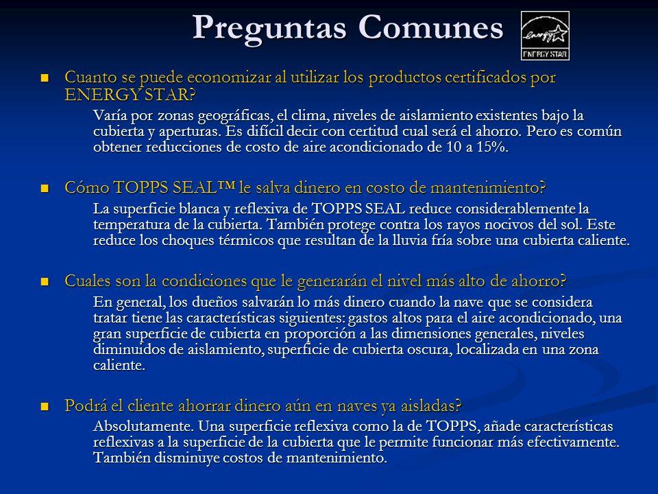 Preguntas Comunes Cuanto se puede economizar al utilizar los productos certificados por ENERGY STAR.