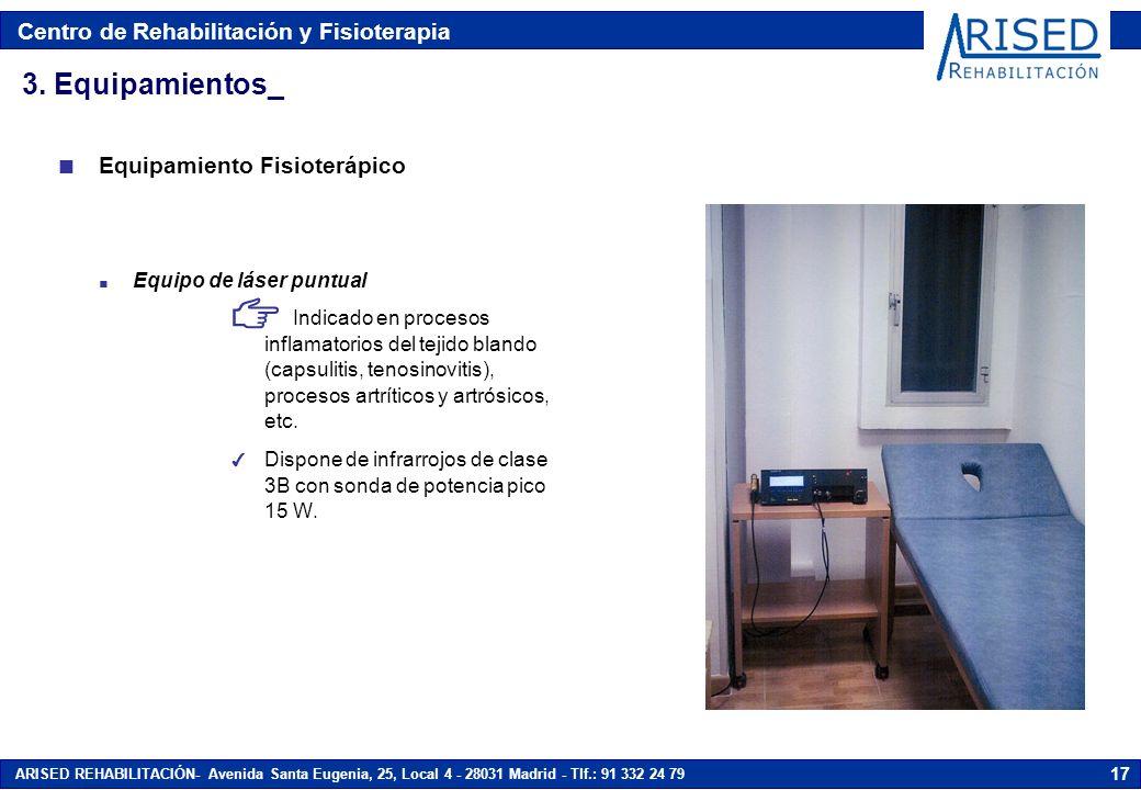 Centro de Rehabilitación y Fisioterapia ARISED REHABILITACIÓN- Avenida Santa Eugenia, 25, Local 4 - 28031 Madrid - Tlf.: 91 332 24 79 17 n Equipo de l