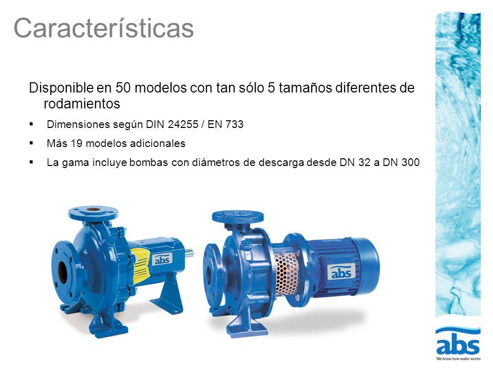 Características Disponible en 50 modelos con tan sólo 5 tamaños diferentes de rodamientos Dimensiones según DIN 24255 / EN 733 Más 19 modelos adiciona