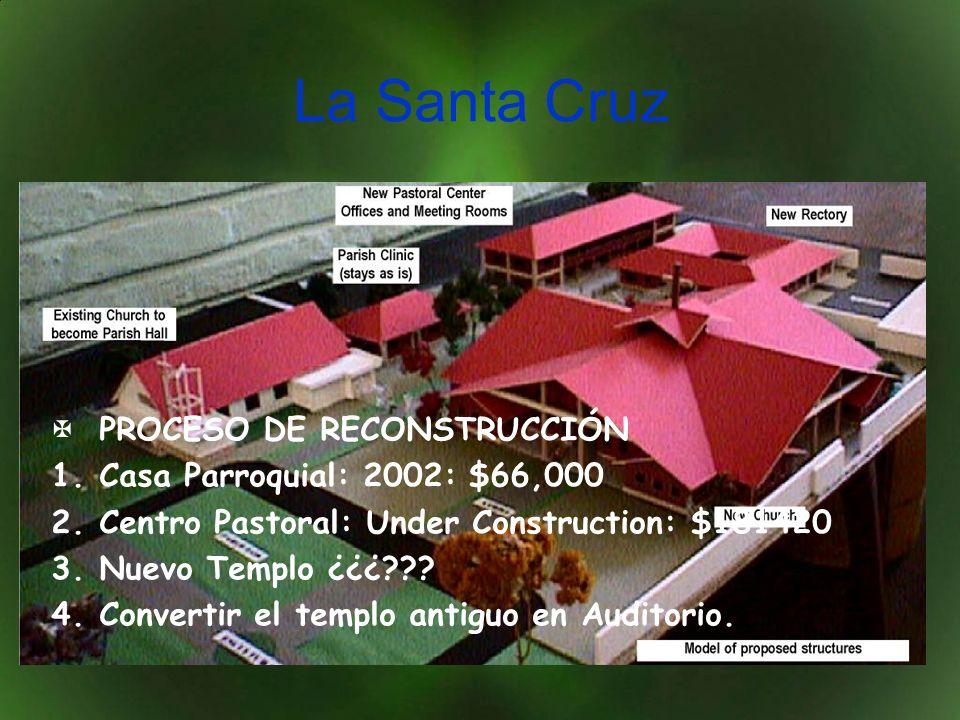 La Santa Cruz PROCESO DE RECONSTRUCCIÓN 1.Casa Parroquial: 2002: $66,000 2.Centro Pastoral: Under Construction: $181420 3.Nuevo Templo ¿¿¿??.