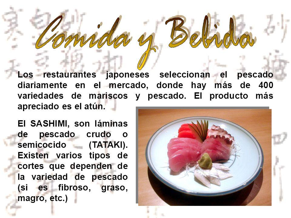 Los restaurantes japoneses seleccionan el pescado diariamente en el mercado, donde hay más de 400 variedades de mariscos y pescado. El producto más ap